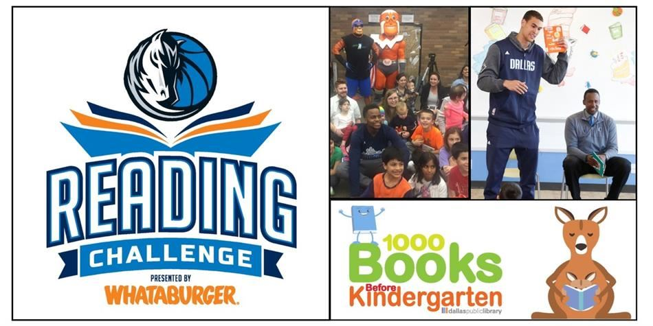 Read 20 minutes a day and earn fun prizes from the Dallas Mavericks, Whataburger and Half-Price Books until March 31st!