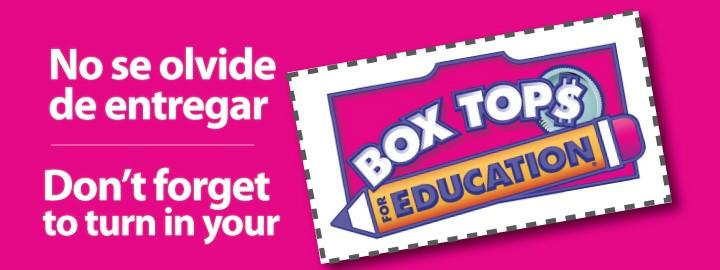 We're a Box Tops School