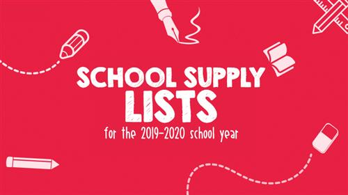 School supply lists for the 2019-2020 school year are here!