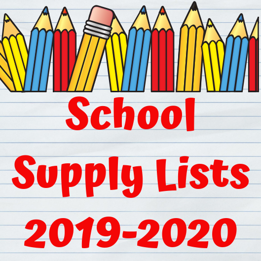 2019-2020 School Supply List!