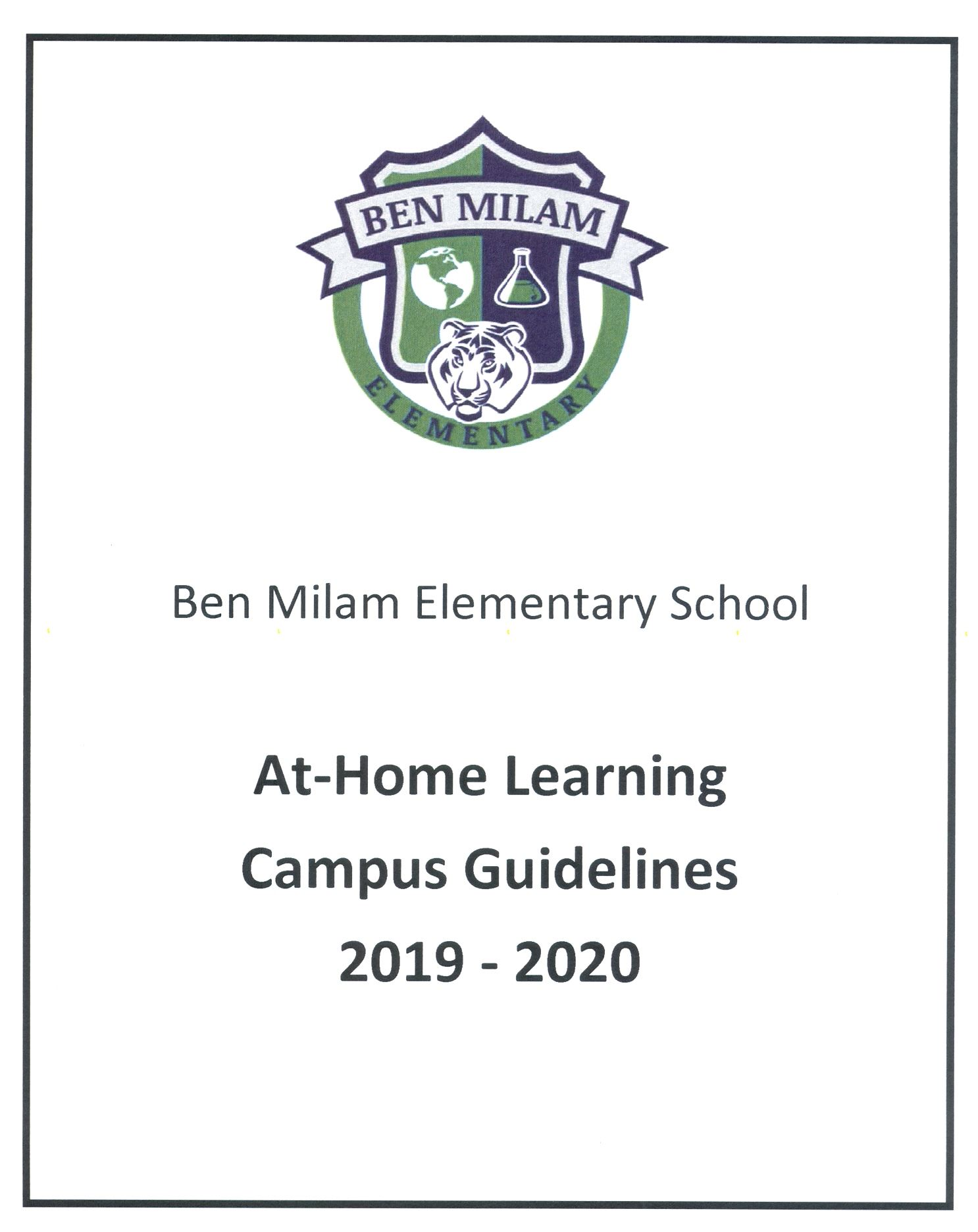 At-Home Learning Campus Guidelines