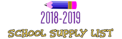 2018-2019 School Supplies Lists