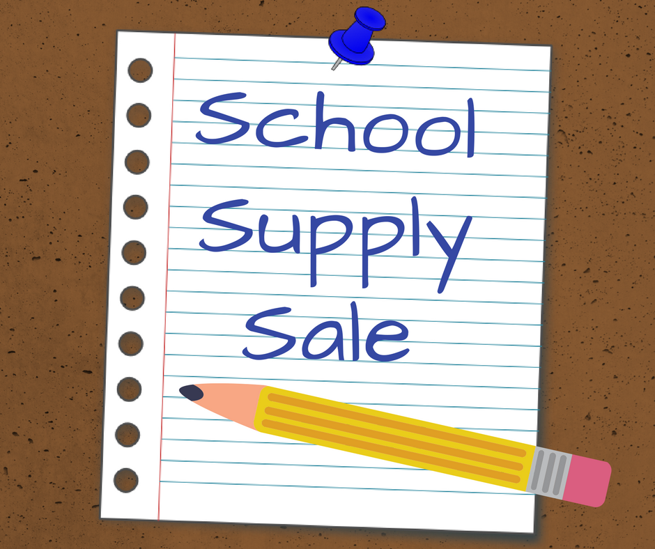School Supply Sale-starting now!