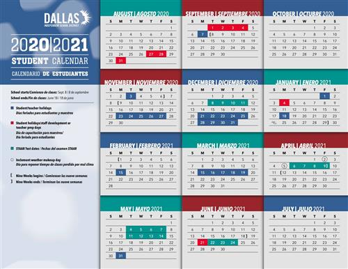 2020-2021 Approved Student Calendar