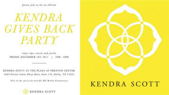 Kendra Gives Back Party!