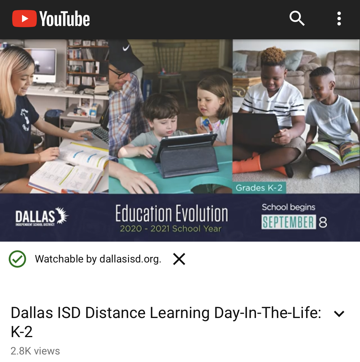 K-2 Parent Instructional Video