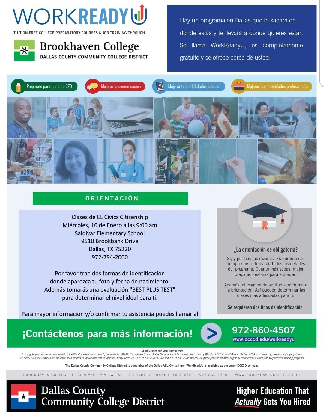 Brookhaven College Civics Citizenship Classes for Adults