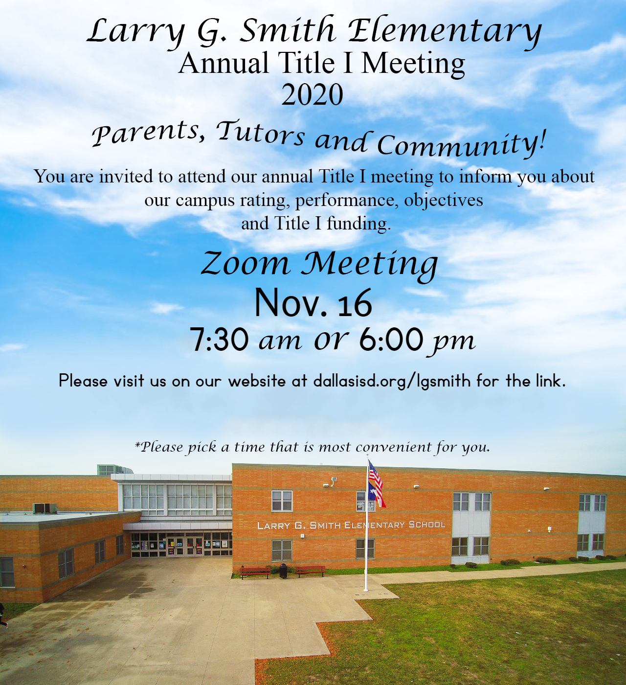 Annual Title I Meeting Information