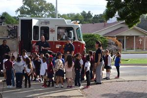 Dallas Fire Dept. Visits for Fire Prevention Week
