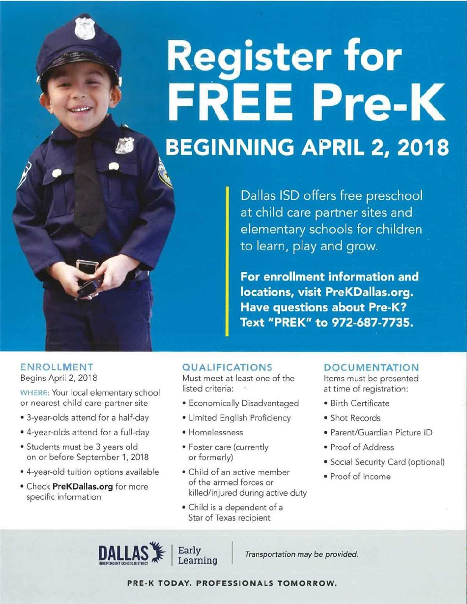 Register for FREE PreK!