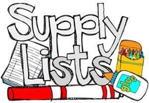 PK & Kinder School Supply List