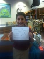 Ian earned over 100 points and a gift certificate to the spring book fair.