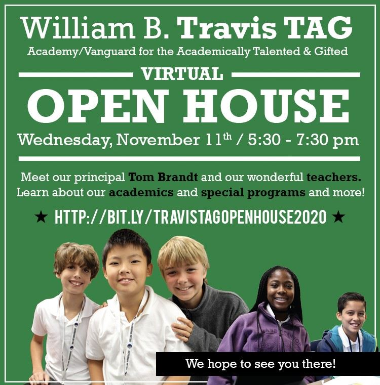 Travis TAG Virtual Open House
