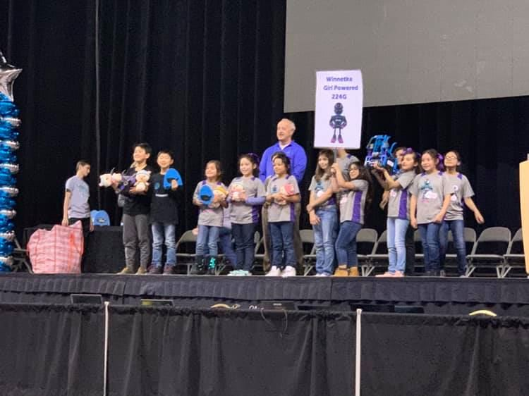 Girl Powered 224G Robotics Team won Teamwork Finalist (2nd place out of 79 elementary teams)