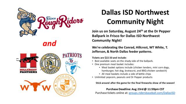 Northwest Community Event on August 24 @ Dr. Pepper Ballpark