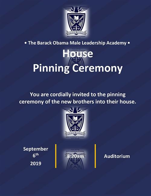 House Pinning Ceremony