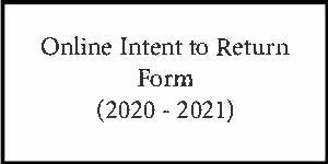 Current Students ONLY Intent to Return 2020-2021