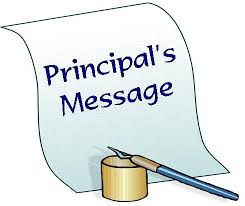 Principal's Welcome Back Letter