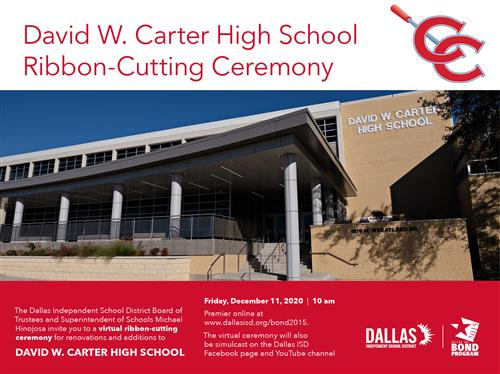 Carter High School Virtual Ribbon Cutting