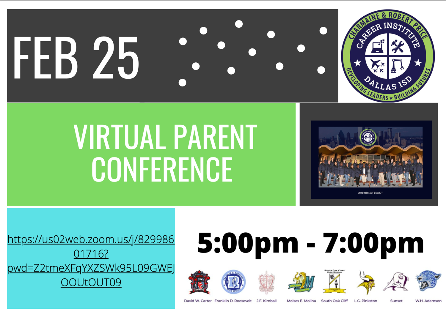 Career Institute Virtual Parent Conference