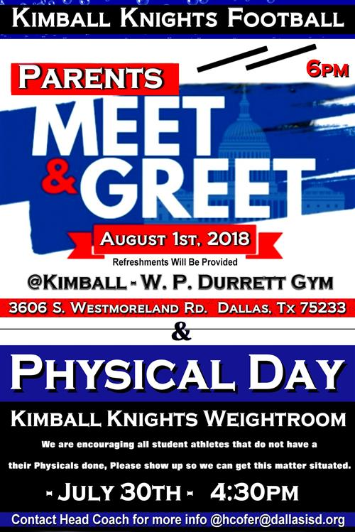 Kimball Football Meet & Greet Night