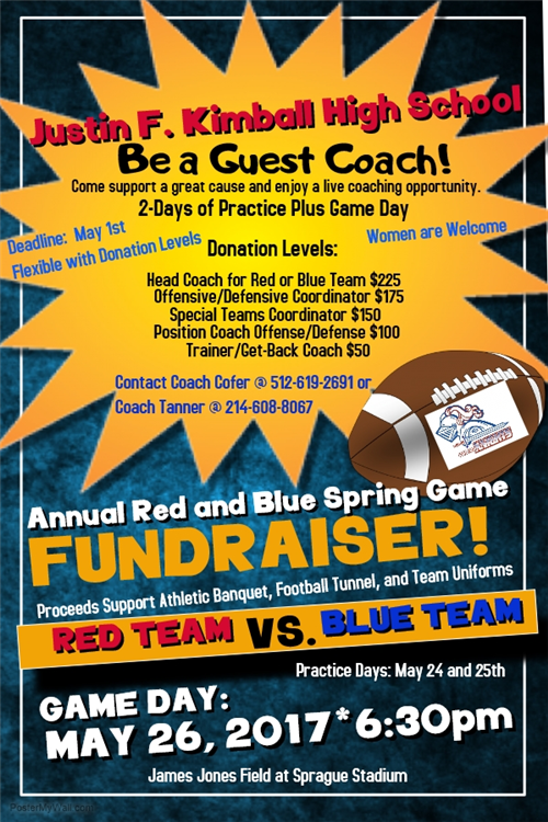 Spring Football Fundraiser Game