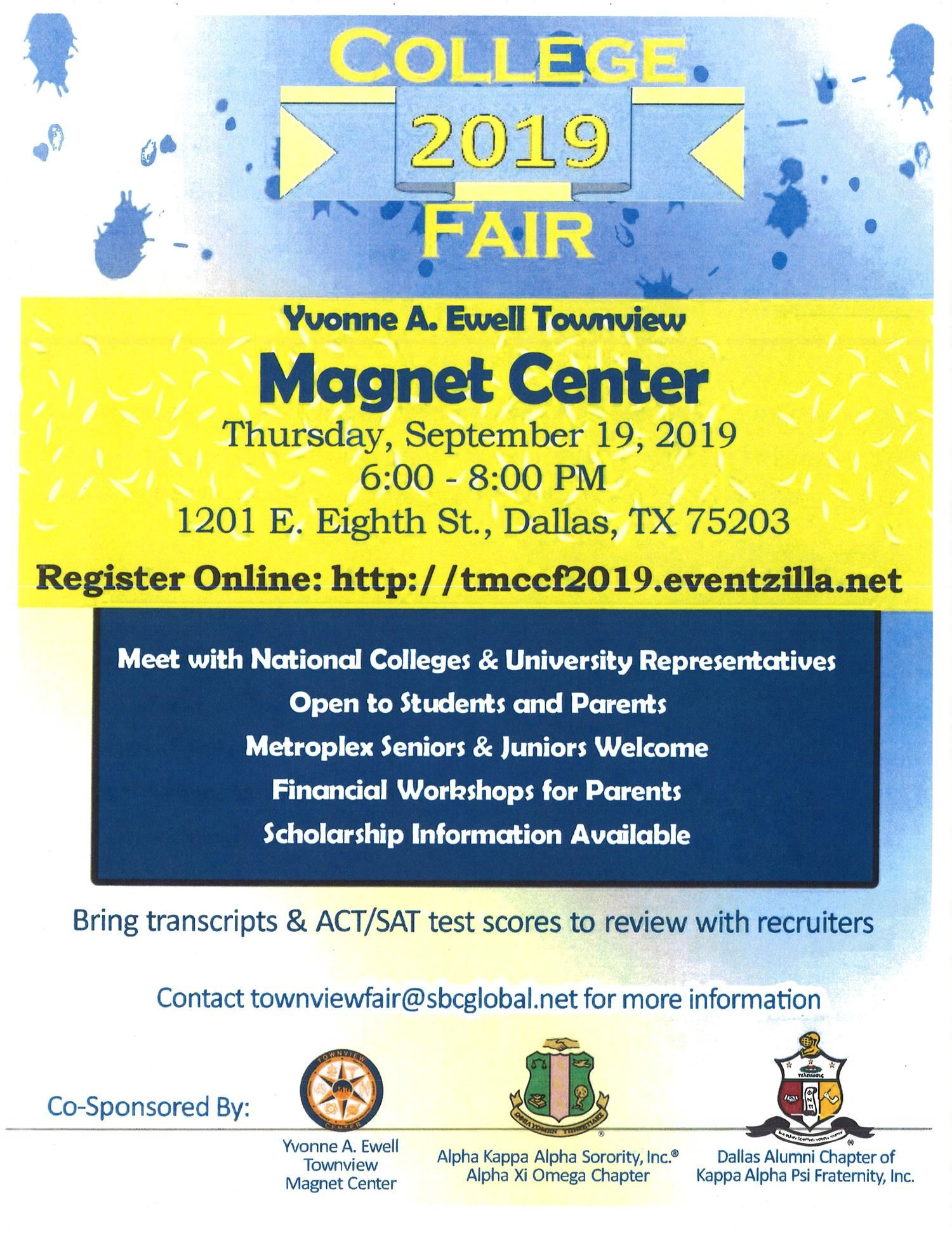 Townview College Fair 2019-Sign Up Now!