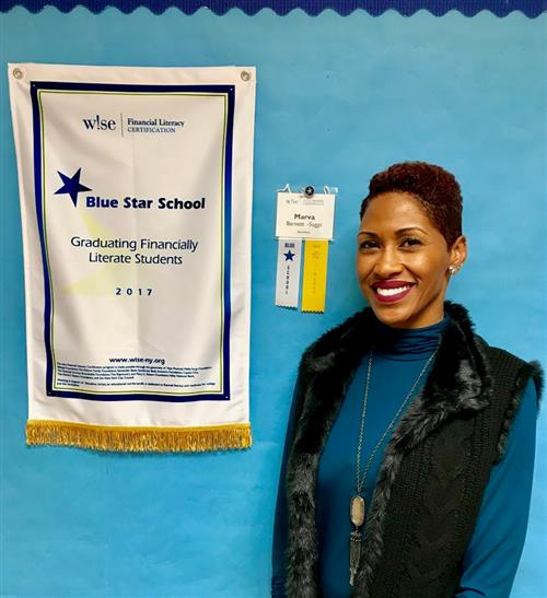 "Rosie Sorrells is recognized as a ""Blue Star School"" for Financial Literacy Certification"