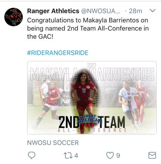 Congrats to one of our very own soccer player.