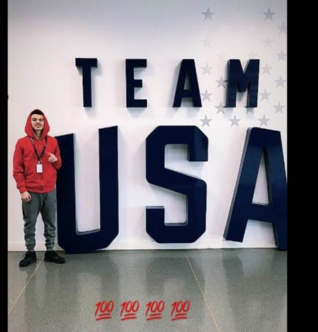 Stephen will be competing in boxing with Team USA in