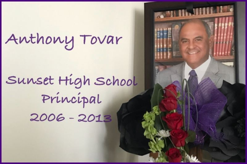 Sunset Alumni have coordinated a candlelight vigil to honor Mr. Tovar on Wednesday, Feb. 21st at 6:30 p.m. at the front of the school.