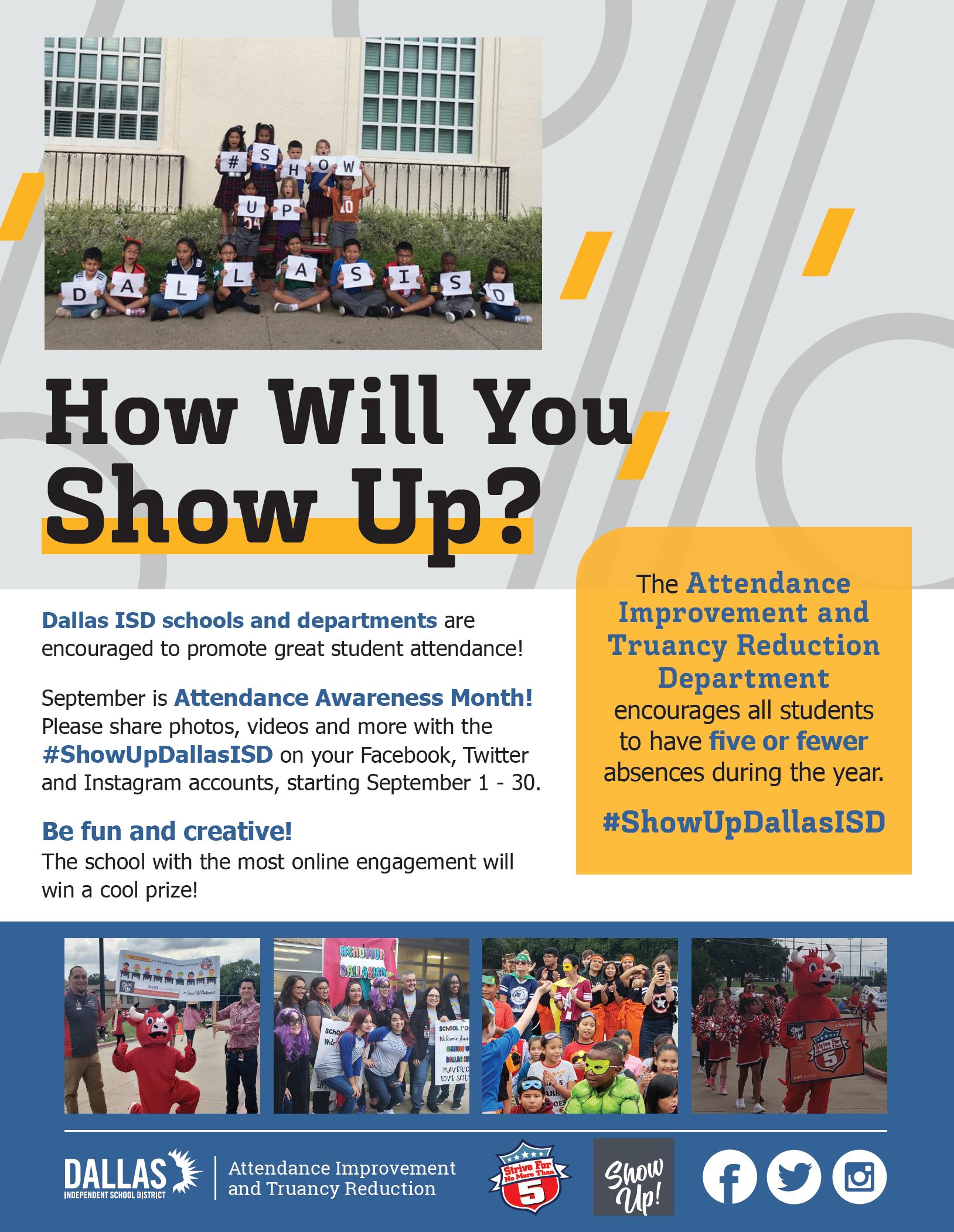 #ShowUpDallas Flyer
