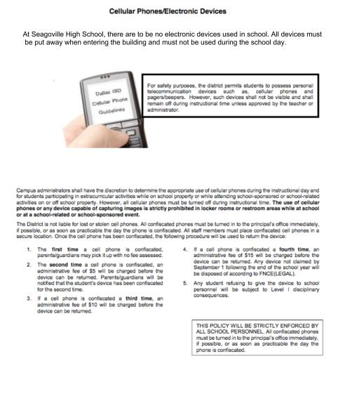 cell phone policy implementationthe cell phone Cellular phones in the workplace: issues and policy there can be no doubt that new forms of technology in the workplace impact the job of the hr professional.